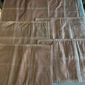 Brown leather placemats